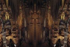 Пещера Karst с сталактитами и сталагмитами в Caverns Luray Luray, Вирджиния Стоковые Изображения RF