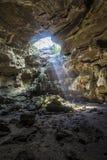 Пещера Ligth стоковое фото rf
