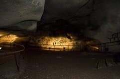 Пещера Magura в Болгарии Доисторические картины на утесе Стоковая Фотография RF
