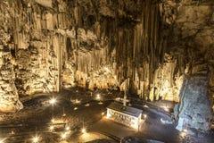 Пещера Melidoni в Крите, Греции Стоковое фото RF