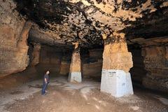 Пещера Patish в Ofakim - Израиле стоковые фотографии rf