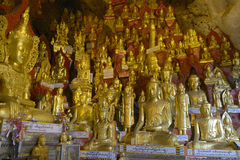 Пещера Pindaya стоковые фотографии rf
