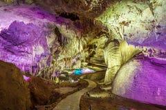 Пещера Prometheus, Kutaisi стоковые изображения