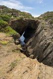Пещера S'Infern. Крышка de Creus, Испания. Стоковые Изображения RF