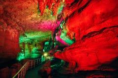 Пещера Sataplia подземная около Kutaisi в Georgia Стоковые Фото