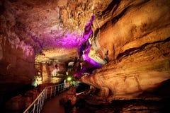 Пещера Sataplia подземная около Kutaisi в Georgia Стоковая Фотография