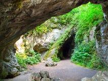 Пещера Sipka, доисторическое археологическое место Остатки человека неандерталца были найдены там Stramberk, Моравия, чехия Стоковое фото RF