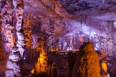 Пещера Soreq. Cavern сталагмита сталактита. Израиль стоковая фотография