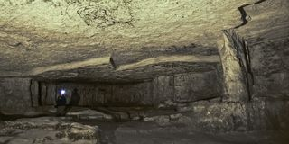 Пещера Zedekiah карьеры короля Solomon Стоковое Фото