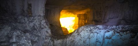 Пещера Zedekiah карьеры короля Solomon Стоковые Фото
