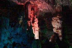 Пещеры ветчин Мальорка, Испания Стоковое фото RF