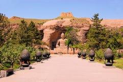 Пещеры гротов ЮНЕСКО Yungang буддийские, Китай Стоковые Изображения
