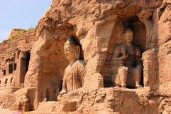 Пещеры гротов ЮНЕСКО Yungang буддийские, Китай Стоковая Фотография RF