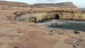 Пещеры моря и среднеземноморское видеоматериал