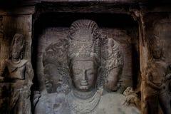 Пещеры острова Elephanta ЮНЕСКО mumbai Индии стоковые изображения rf