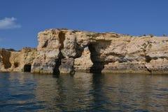 Пещеры от зоны Agavre, Португалия Стоковые Изображения RF