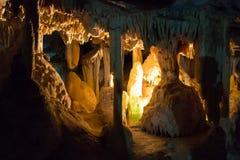 Пещеры Cango в Oudtshoorn Южной Африке Африканский ориентир ориентир Стоковое Фото