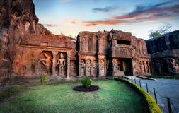 Пещеры Ellora в Индии Стоковое Фото