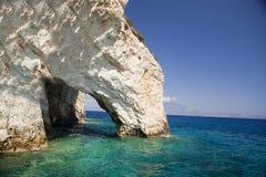 Пещеры Keri на Закинфе Стоковые Изображения