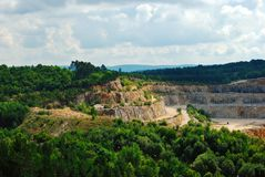 Пещеры Koneprusy в чехии, лете стоковые фотографии rf