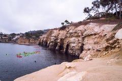 Пещеры La Jolla Калифорнии Стоковая Фотография RF