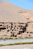 Пещеры Mogao в Дуньхуане, Китае стоковое изображение