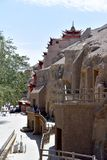 Пещеры Mogao в Дуньхуане, Китае стоковые фотографии rf