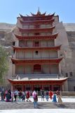 Пещеры Mogao в Дуньхуане, Китае стоковое изображение rf