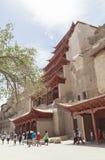 Пещеры Mogao в Дуньхуане, Китае Стоковое фото RF