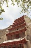 Пещеры Mogao в Дуньхуане, Китае Стоковые Изображения