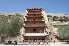 Пещеры Mogao в Дуньхуане стоковые фотографии rf