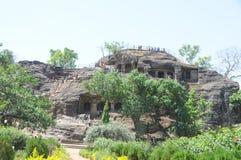 Пещеры Shri Panch Pandav на Panchmarhi, Индии стоковое изображение
