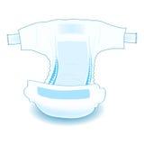 Пеленка вещество-поглотителя младенца Реалистическая иллюстрация вектора Стоковая Фотография RF