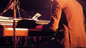 Пианист на этапе Стоковые Фотографии RF