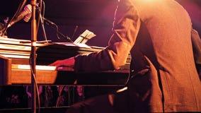 Пианист на этапе Стоковая Фотография RF