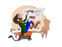 пианист обезьяны Стоковые Изображения