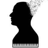 Пианист любит рояль бесплатная иллюстрация