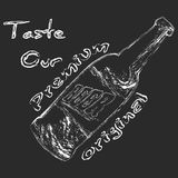 Пивная бутылка мела Стоковые Фотографии RF
