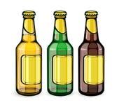 Пивные бутылки с пустыми ярлыками Стоковое Изображение RF