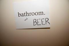 пиво ванной комнаты Стоковое Изображение RF