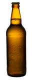 Пиво в коричневом цвете, янтарная бутылка стоковое изображение rf
