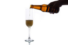 Пиво в стекло Стоковые Фотографии RF