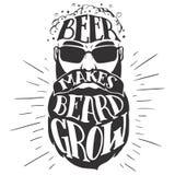 Пиво делает бороду вырасти иллюстрация Oktoberfest Стоковая Фотография