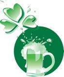 пиво зеленый patrick s Стоковые Фотографии RF