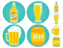 Пиво значков вектора иллюстрация штока