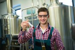 Пиво испытания винодела Стоковая Фотография RF