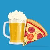Пиво и пицца Стоковое фото RF