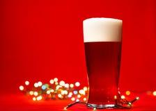 Пиво рождества стоковое изображение
