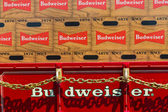 Пиво Budweiser на фуре стоковое изображение rf