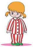 пижамы девушки Стоковая Фотография RF